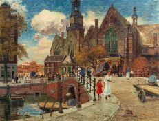 Heinrich HermannsAnsicht der Oude Kerk in Amsterdam