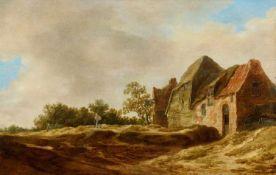 Jan van GoyenLandschaft mit Gehöft und einem Wanderer