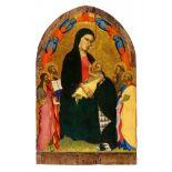 Giovanni del BiondoThronende Madonna umgeben von den Heiligen Johannes, Peter, Paul, Franz vo