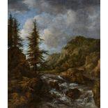 Jacob van RuisdaelLandschaft mit Wasserfall