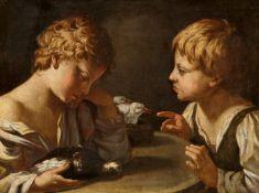 Bologneser Meister Anfang 17. JahrhundertZwei Knaben mit Tauben