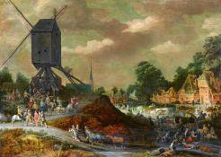 Adriaen van StalbemtBockmühle am Ufer eines Flusses