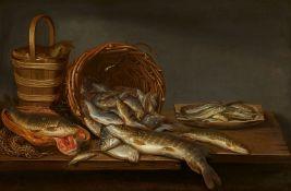 Pieter van SchaeyenborghStillleben mit Süßwasserfischen / Stillleben mit Seefischen