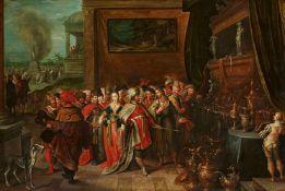 Frans Francken d. J.Cornelis de Baellieur d. Ä.Krösus zeigt Solon seine Schätze