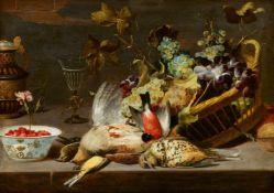 Frans SnydersStillleben mit Vögeln und Traubenkorb