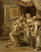 Giuseppe Cesari, gen. Il Cavaliere D'ArpinoDie Heilige Familie angebetet von dem Heiligen Fra