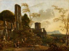 Adam PynackerHirten in südlicher Landschaft mit Ruinen