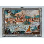 Bedeutende frühe Commessoplatte mit der Ansicht von Florenz