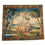 Tapisserie mit Motiv nach Watteau