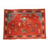 Chinesischer Teppich mit Wasserbüffel