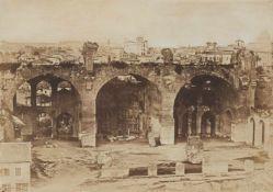 Angelo und Giacomo LuswerghBlick vom Palatin auf die Maxentiusbasilika