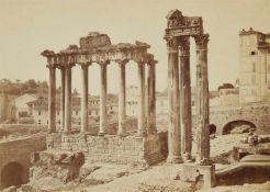 Auguste Rosalie Bisson gen. Bisson JeuneTempel des Saturn und Tempel des Jupiter, Forum Roman