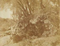 Giacomo CanevaStudie mit Felsen und Bäumen, Campagna Romana