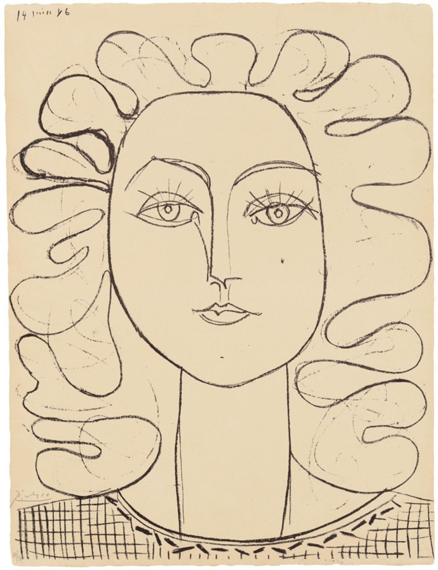 Pablo PicassoFrançoise aux cheveux ondulés