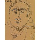 Pablo PicassoTête D'Homme (LE 14 AOÛT 1969)