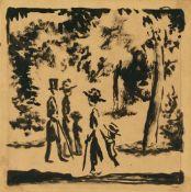 August MackeSpaziergänger im Park (Spaziergänger mit Kind im Park)