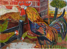 Otto DixHahn und Hühner