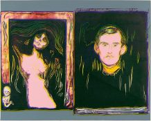 Andy WarholMadonna and Self-Portrait with Skeleton's Arm (After Munch)