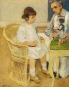 Max LiebermannDie Enkelin im Korbsessel nach rechts