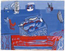 Raoul DufyNature morte aux fruits, baigneuses et voiliers