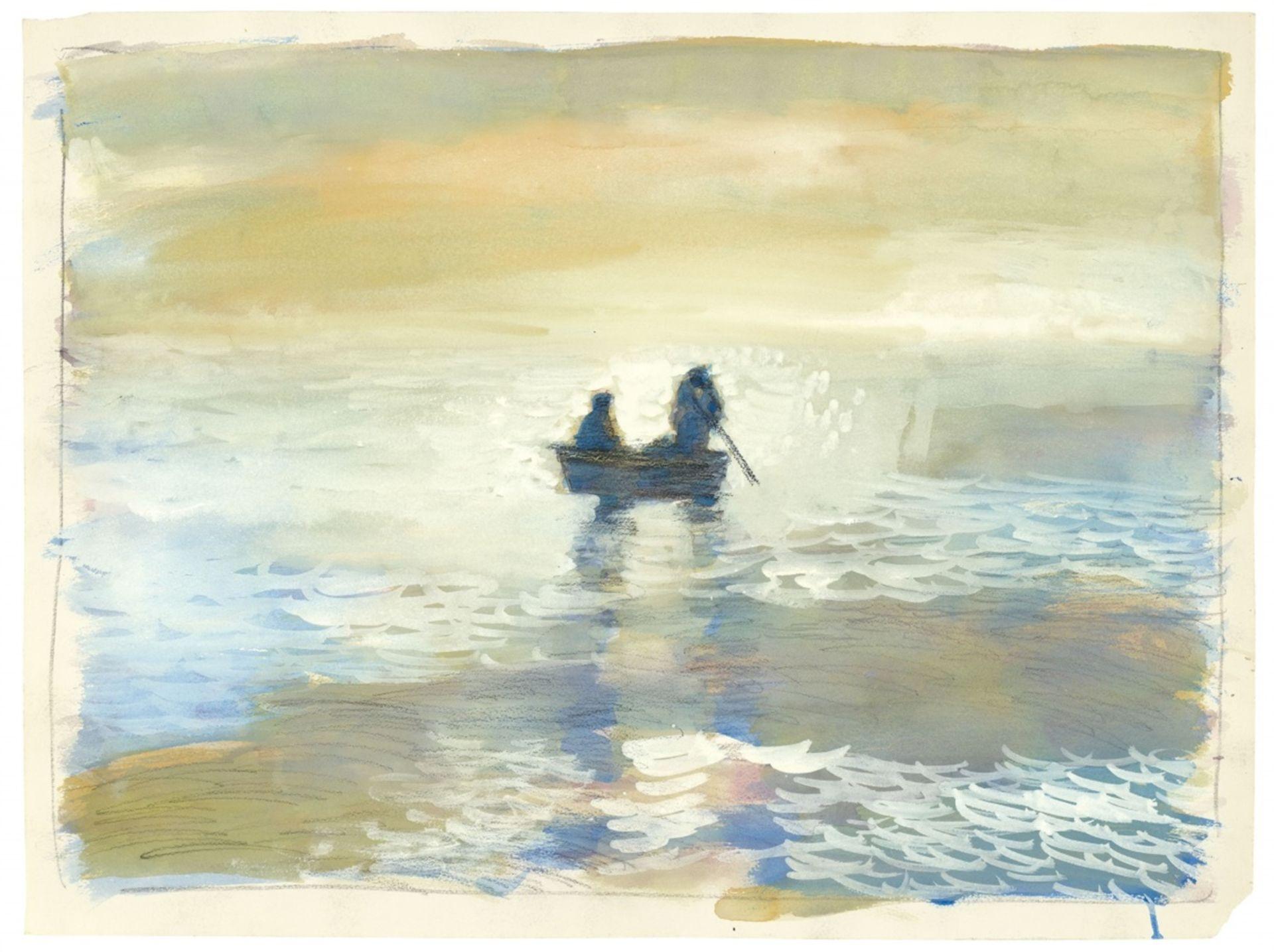Paul ThekOhne Titel (Seascape with Rowboat)