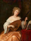 Eglon van der NeerLaute spielende junge Frau