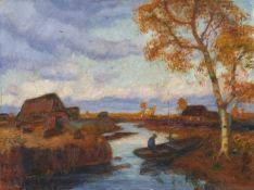Otto ModersohnHerbst im Moor mit Birke