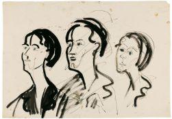 Ernst Ludwig KirchnerDrei weibliche Köpfe