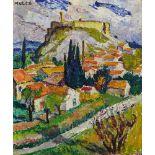 Mela Muter (Maria Melania Mutermilch)Villeneuve-lès-Avignon. Verso: Dorfplatz