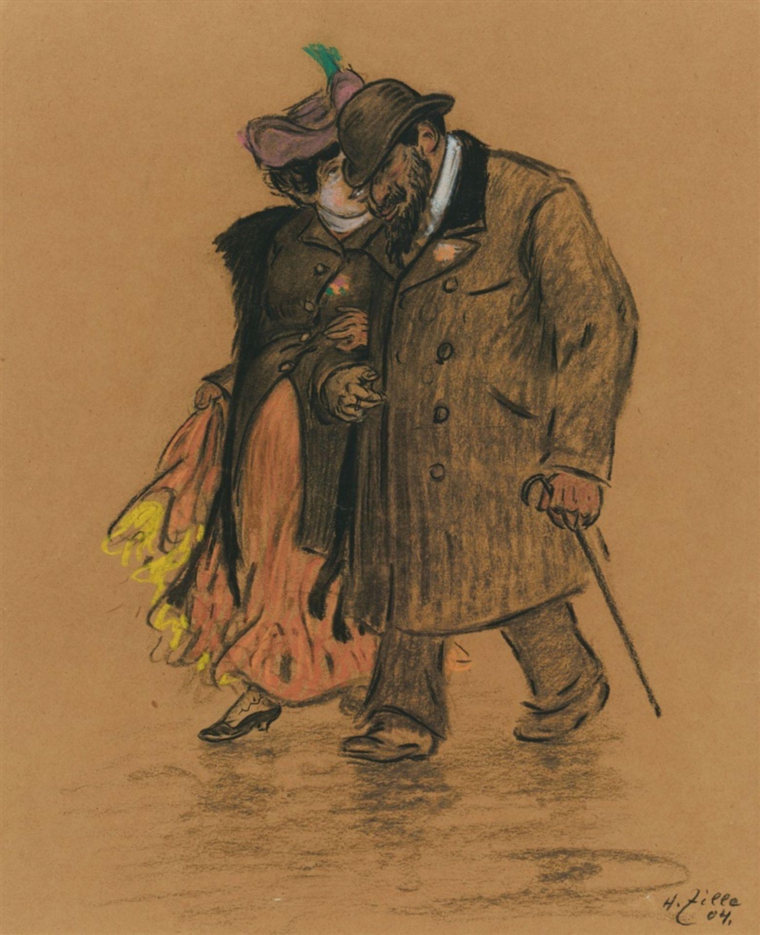 Heinrich ZilleFlanierendes Paar
