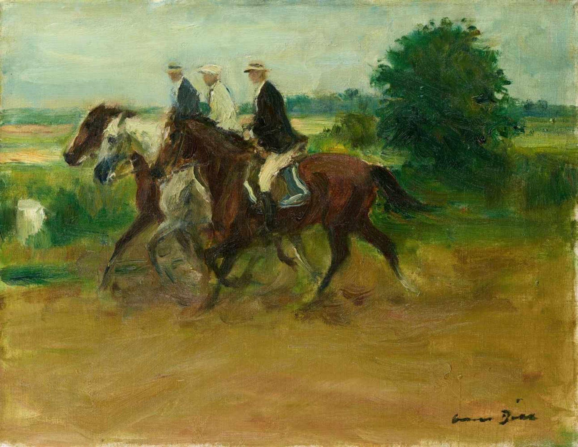 Otto DillDrei Reiter in der Landschaft