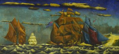 T. Lux FeiningerFranzösische, Englische, Amerikanische und Belgische Schiffe (vor dem Wind s