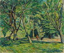 Theo von BrockhusenZwei sitzende Frauen im Garten
