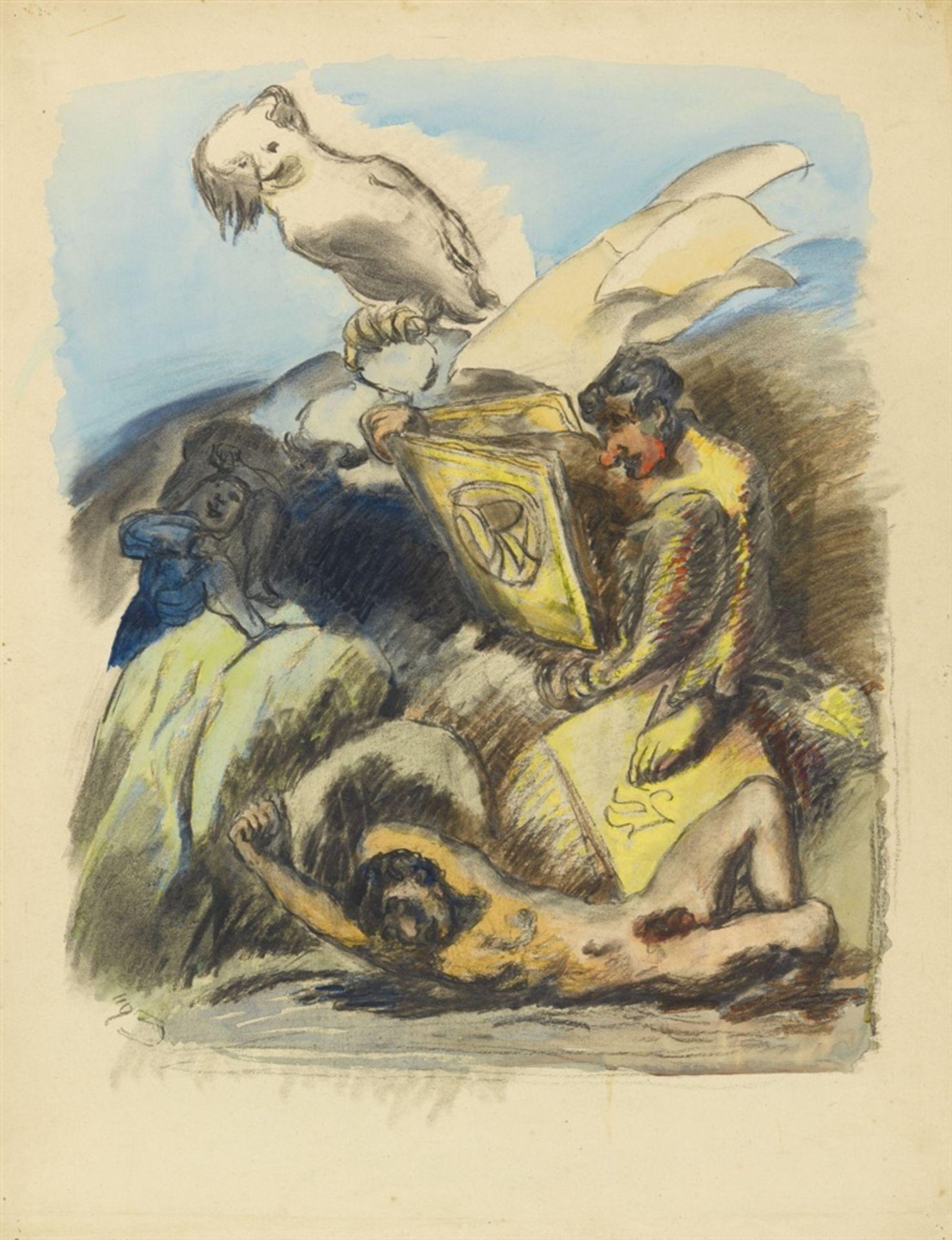 Ludwig MeidnerApokalyptische Komposition. Verso: Insektenszene