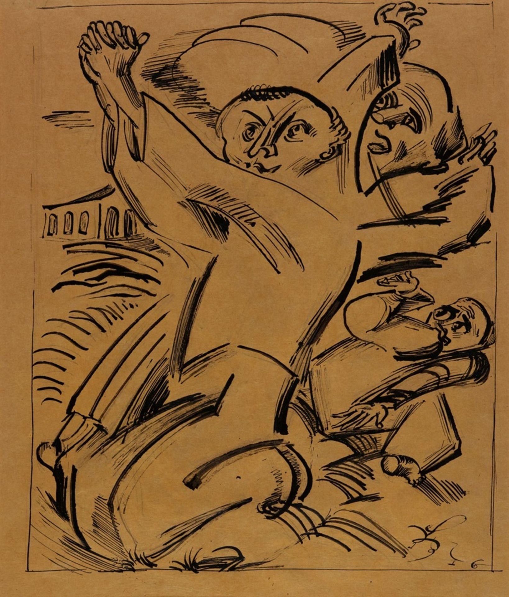 Ludwig MeidnerWeinende Figur. Verso: Flehende Figuren - Bild 2 aus 2