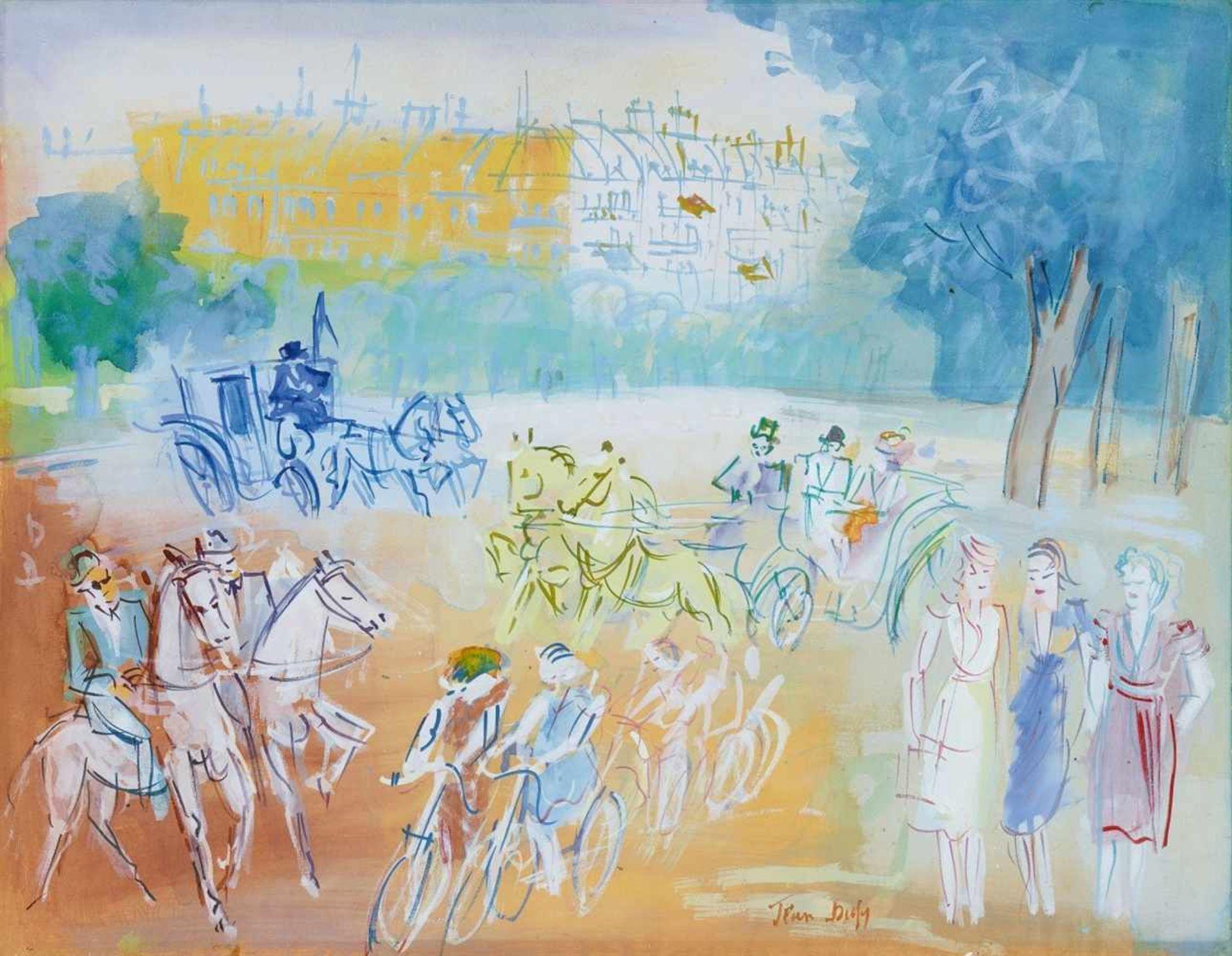 Jean DufyPromenade au Bois de Boulogne