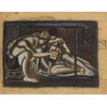 Max AckermannAm Boden sitzendes Paar, arkadisches Motiv