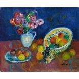 Charles CamoinBouquet d'anémones - plat et assiette de fruits
