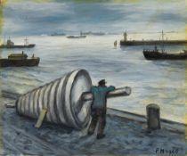 Frans MasereelHambourg, Bouee sur le quai