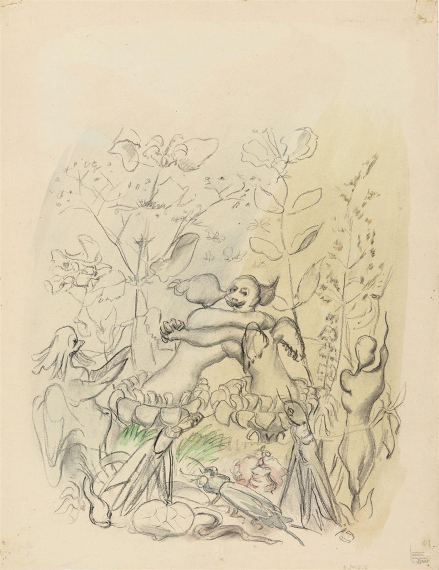 Ludwig MeidnerApokalyptische Komposition. Verso: Insektenszene - Bild 2 aus 2