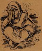 Ludwig MeidnerWeinende Figur. Verso: Flehende Figuren