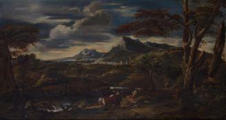 Italienischer Künstler des 18. JahrhundertsLandschaft mit Hirten