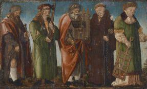 Deutscher Meister des frühen 16. JahrhundertsFünf stehende Heilige