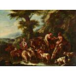 Domenico BrandiHirten und Schäferin mit einer Herde an der Tränke