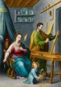 Sigismondo LaireMaria mit dem Christuskind und dem heiligen Josef als Zimmermann