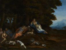 Flämischer Meister des 17. JahrhundertsDiana und ihre Gefährtinnen bei der Rast