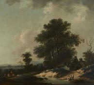 Deutscher oder Niederländischer Künstler des 18. JahrhundertsLandschaft mit Bauernhaus, Ras