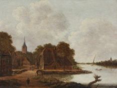 Jan MeerhoutFlusslandschaft mit Dorf