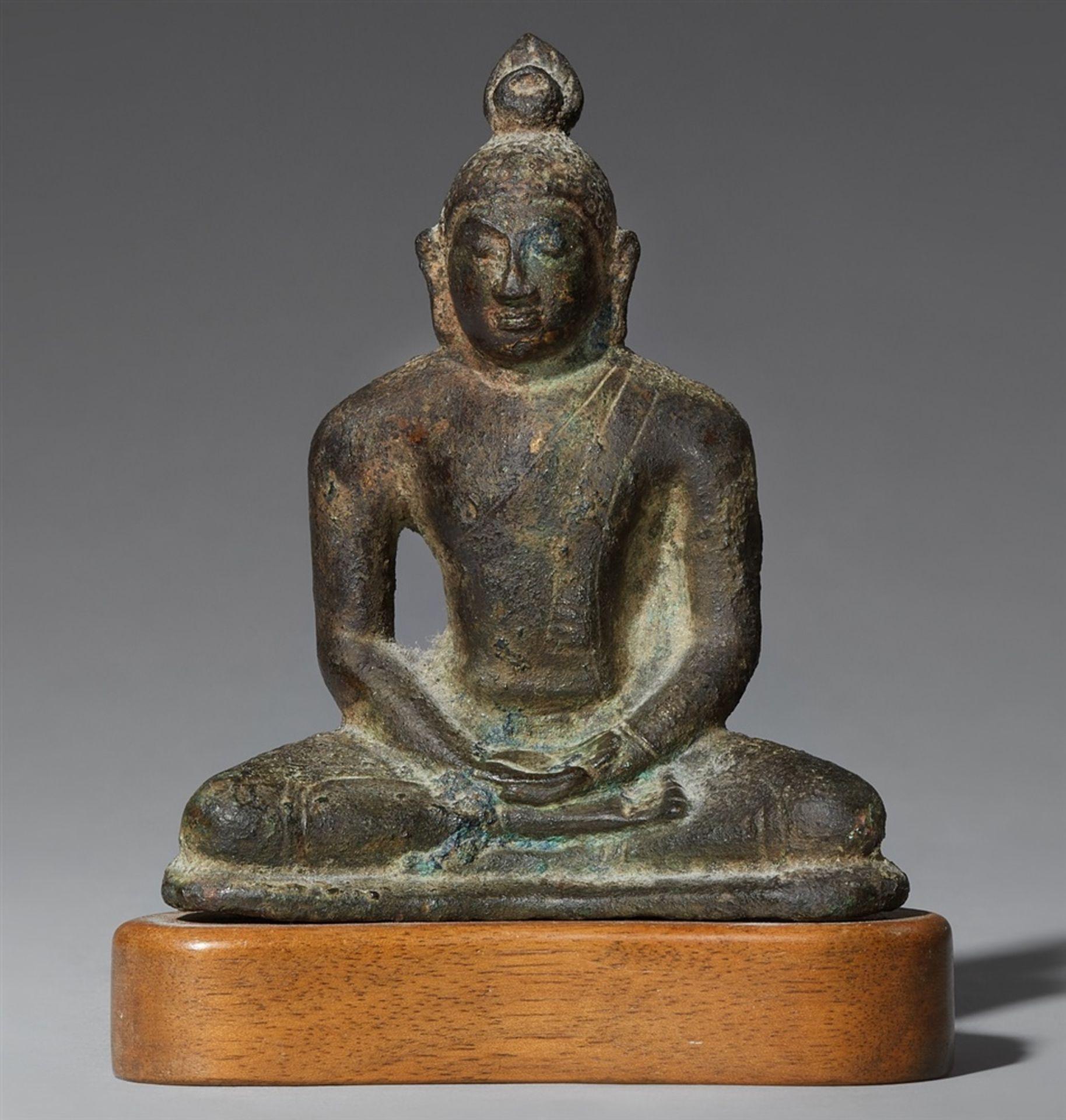 Samadhi Buddha. Bronze. Shri Lanka, Anuradhapura. 9./10. Jh.