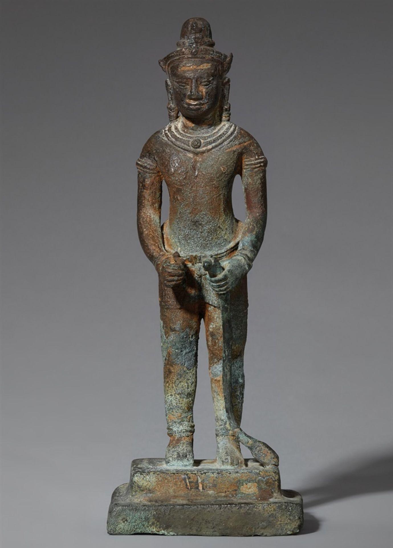 Avalokiteshvara. Bronze. Kambodscha, Bayon. Spätes 12./ frühes 13. Jh.